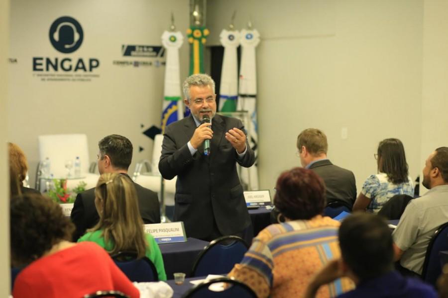 [noticia: crea-go-mostra-seu-padrao-de-atendimento-durante-o-1-engap-em-brasilia] Superintendente de Integração (SIS) do Confea, Reynaldo Barros - FOTO_2_CONFEA.jpg