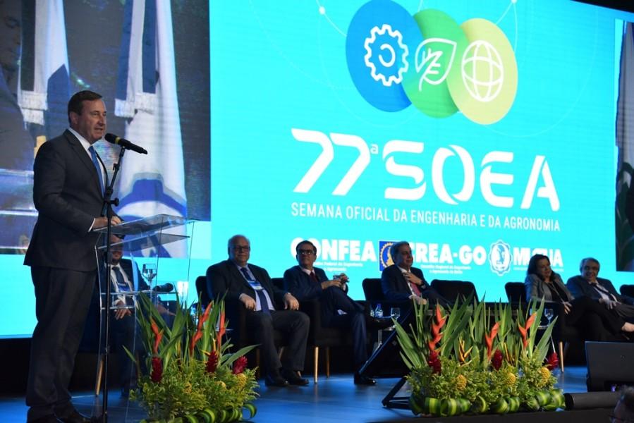 [noticia: 77-soea-e-lancada-em-brasilia] Presidente do Confea, Joel Krüger também destaca a inovação como elemento-chave da edição 2020 da Semana - LANÇAMENTO 77 SOEA 03.jpg