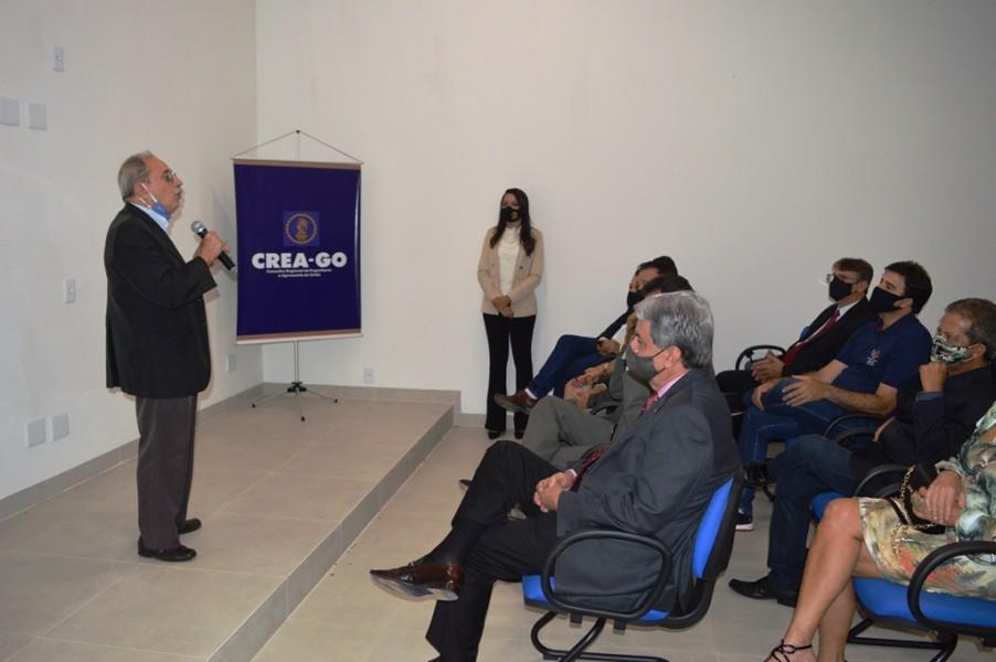 """[noticia: luziania-ganha-nova-sede-da-casa-da-engenharia] O Eng. Civ. Luiz Soares de Queiroz frisou: """"Nossa casa deve refletir o que somos e esta Casa da Engenharia é um ótimo exemplo disso"""" - INAUGURAÇÃO DA CASA DA ENGENHARIA DE LUZIÂNIA 05.JPG"""