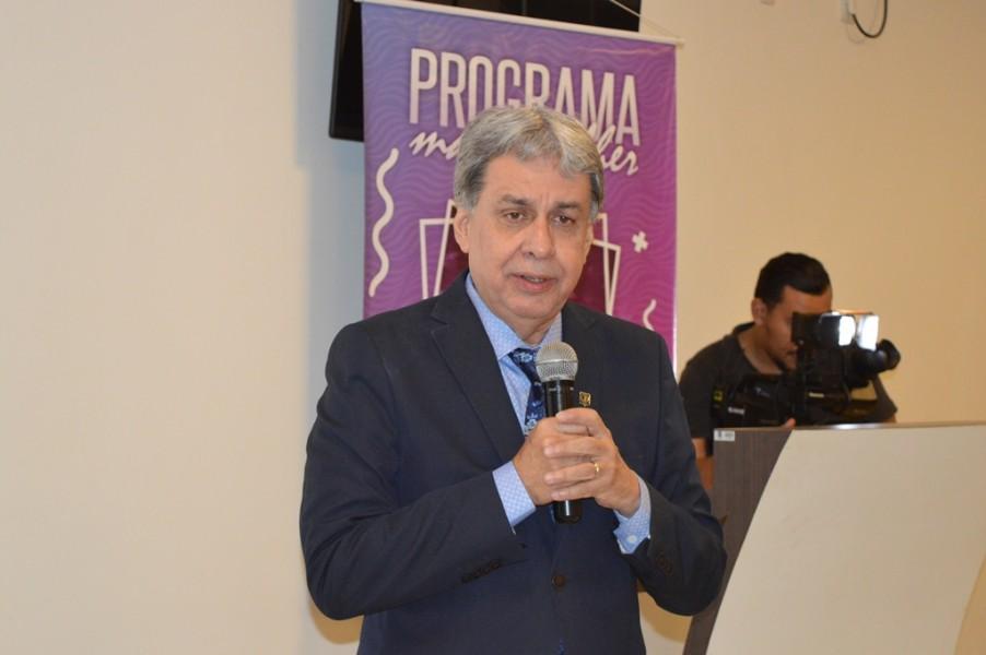 [noticia: programa-mais-mulher-e-lancado-em-jatai] Francisco Almeida destaca que cerca de 60% dos cargos de liderança do Crea-GO são ocupador por mulheres - MAIS_MULHER_2.JPG